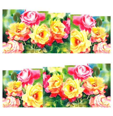 Flower Garden Nail Water Decals / C192