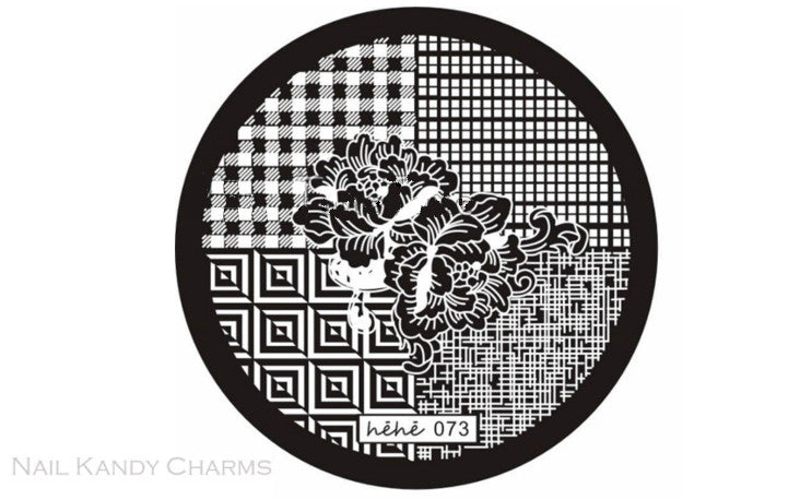 Hehe 073 Nail Art Stamping Plate Template