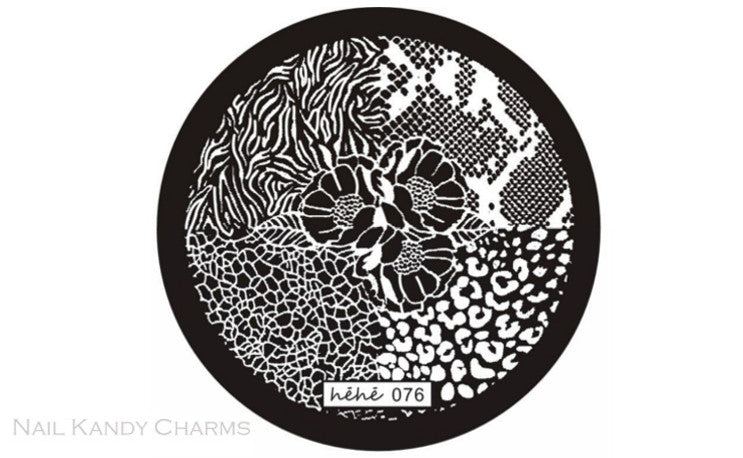 Hehe 076 Nail Art Stamping Plate Template
