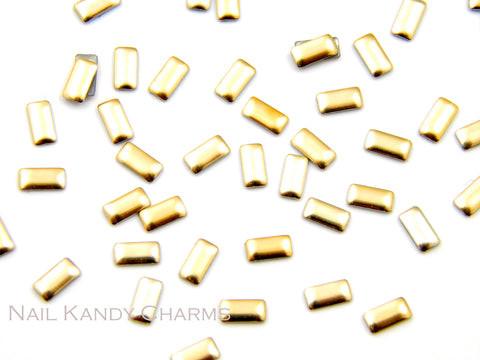 Rectangle Studs / Gold - 100 pcs