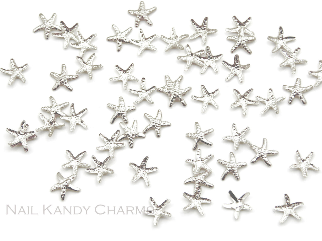 Starfish Studs 5mm / Silver - 20 pcs