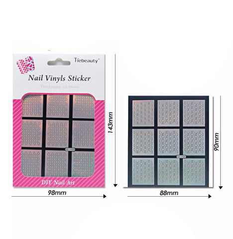 Nail Art Vinyl Stencil Guides / Butterfly / 221