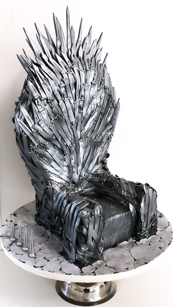 Finished Iron Throne by Studio Cakes