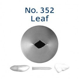 Stainless Steel Icing Nozzle - #352 Leaf