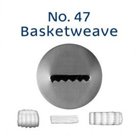 Stainless Steel Icing Nozzle - 47 Basketweave