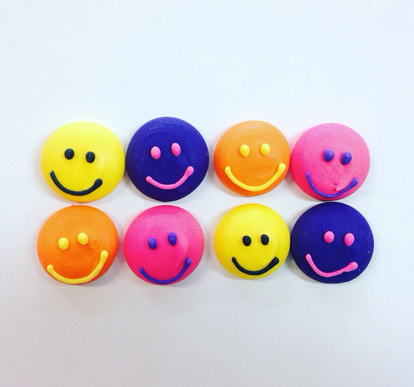 Edible Smiley Faces - Set of 8