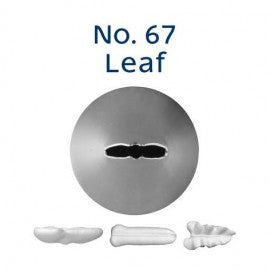 Stainless Steel Icing Nozzle - #67 Leaf