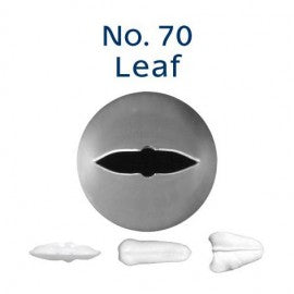 Stainless Steel Icing Nozzle - #70 Leaf