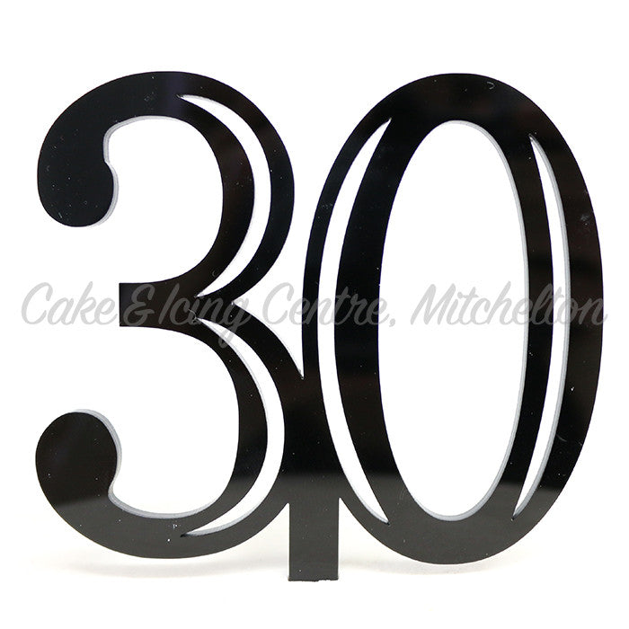 Cake Topper - Double Digit Black Acrylic Numbers