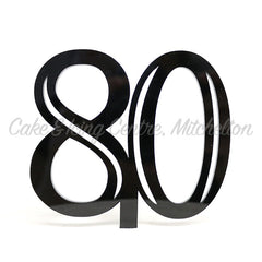 Cake Topper Acrylic Number - Double Digit Black