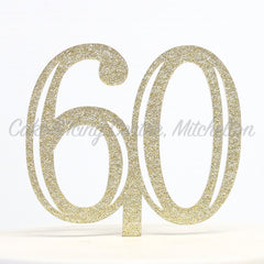 Gold Flecked Double Digit Number Toppers
