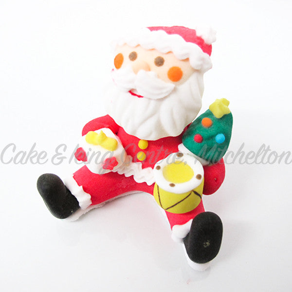 Christmas Cake topper - 3D Santa & Drums