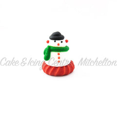 Christmas Cake Topper - Edible Snowman small