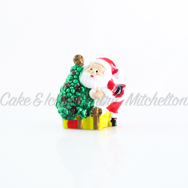 Santa & Christmas Tree Ornament