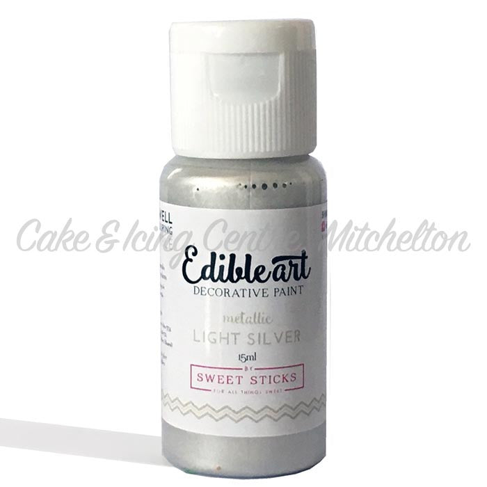 Edible Art Metallic Paint - Silver