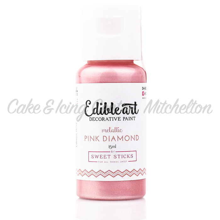 Edible Art Metallic Paint - Pink Diamond