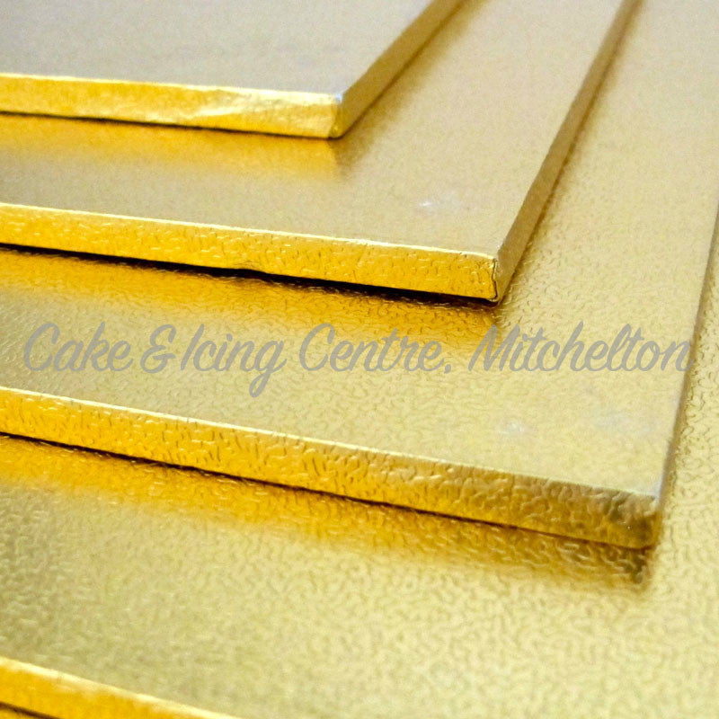 Masonite Cake Boards - SQUARE GOLD