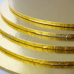 Masonite Cake Boards - ROUND GOLD