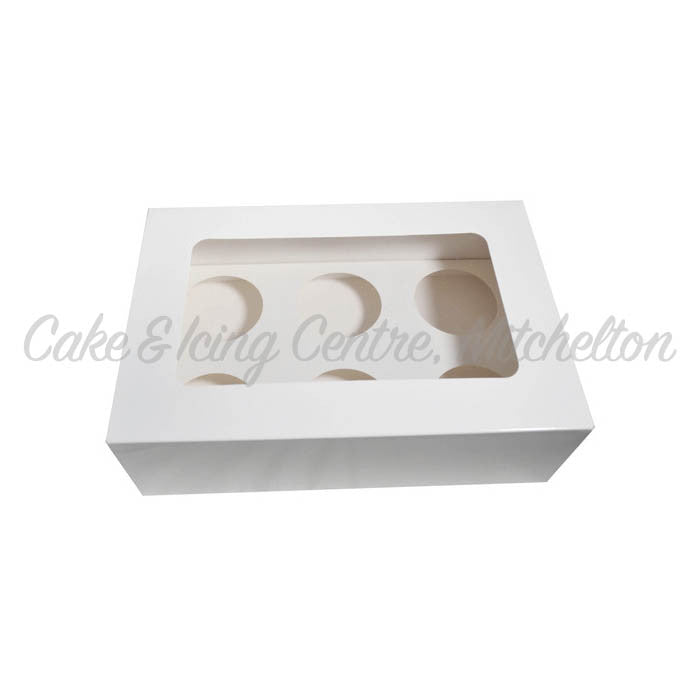 Cupcake Box with PVC Window (Holds 6)