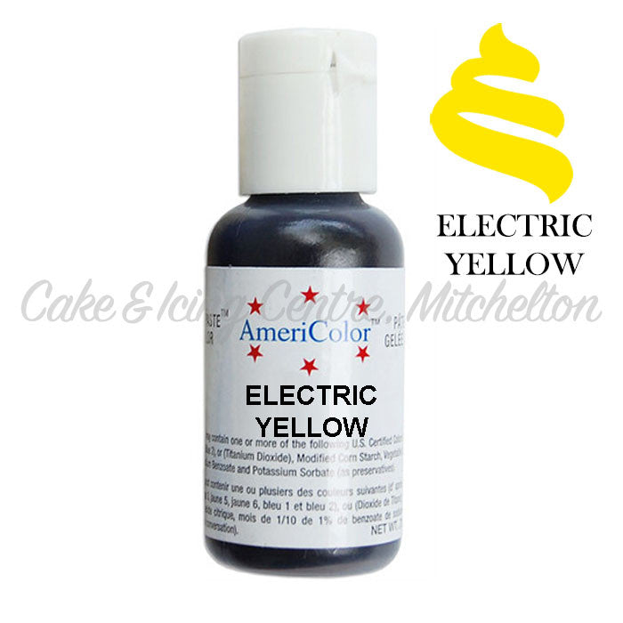 AmeriColor Soft Gel Paste - Electric Yellow
