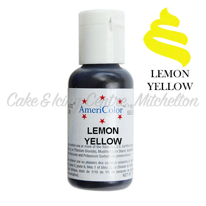 AmeriColor Soft Gel Paste - Lemon Yellow