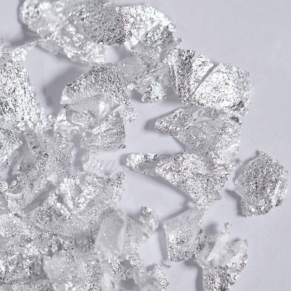 Silver Leaf - Artisan real Silver Flakes