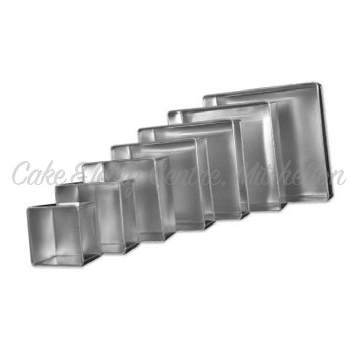 "4""-12"" Square Cake Tins (3"" Tall)"