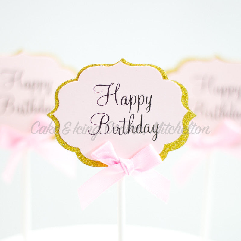 Cupcake Toppers - Happy Birthday
