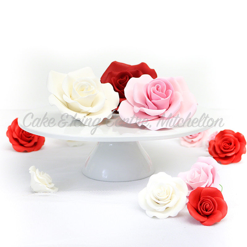 Wired Sugar Roses Small Cake Icing Centre