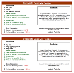 Chocolate Cake Mix - 700g or 1kg+