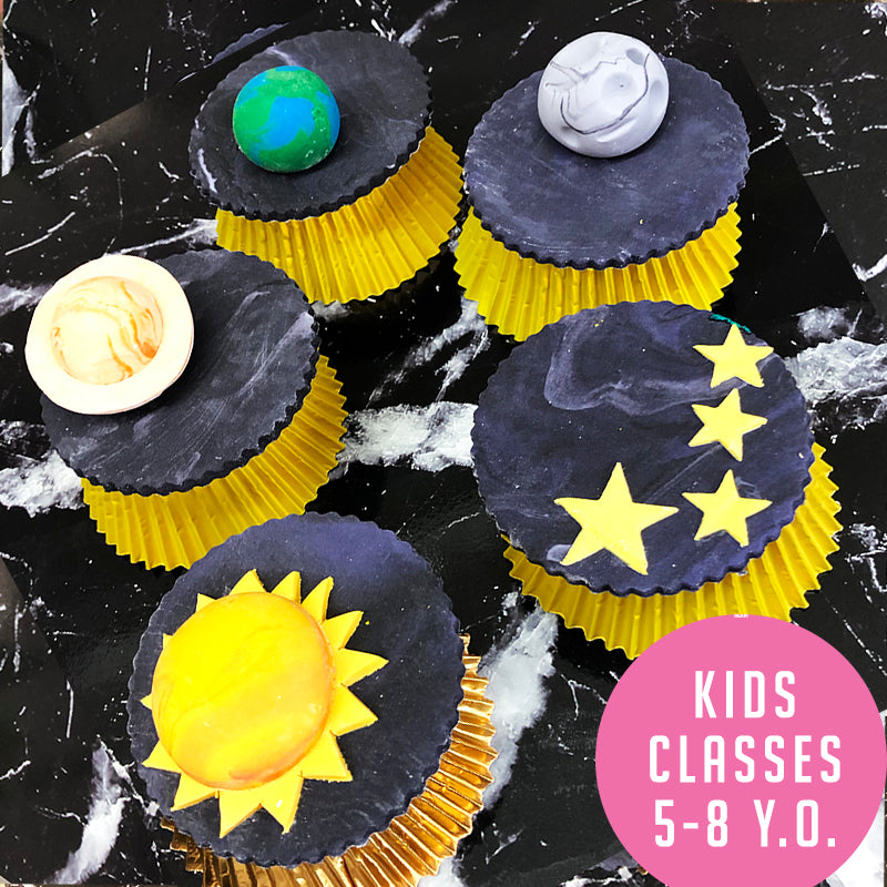 Kids Classes (Mid Year) - Solar System Cupcake Class (5-8 y.o)