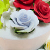 Sugar Flowers - Large Rose with calyx leaves