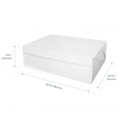 Cake Box - Rectangle Half Slab (With Lid) - 18x14x6