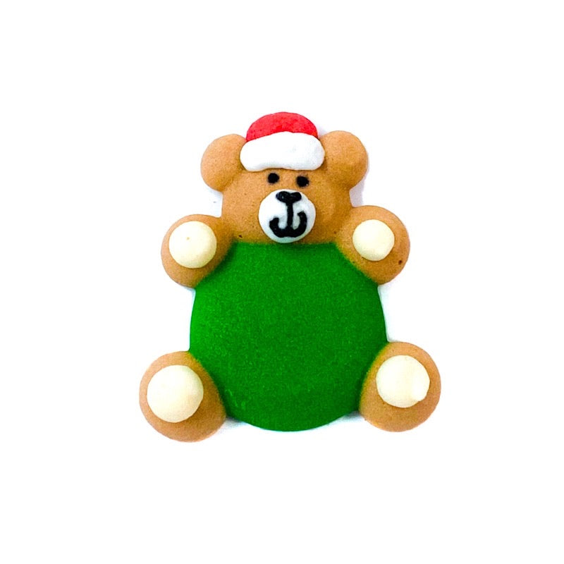 Edible Christmas Toppers - teddy bear