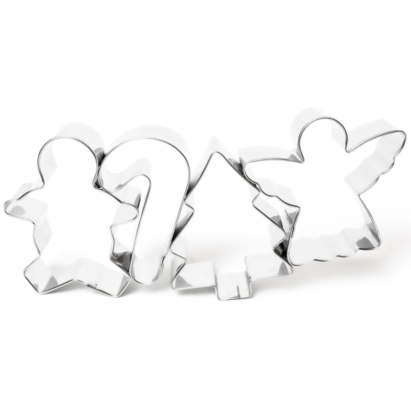 Christmas Cookie Cutters (Set of 4)