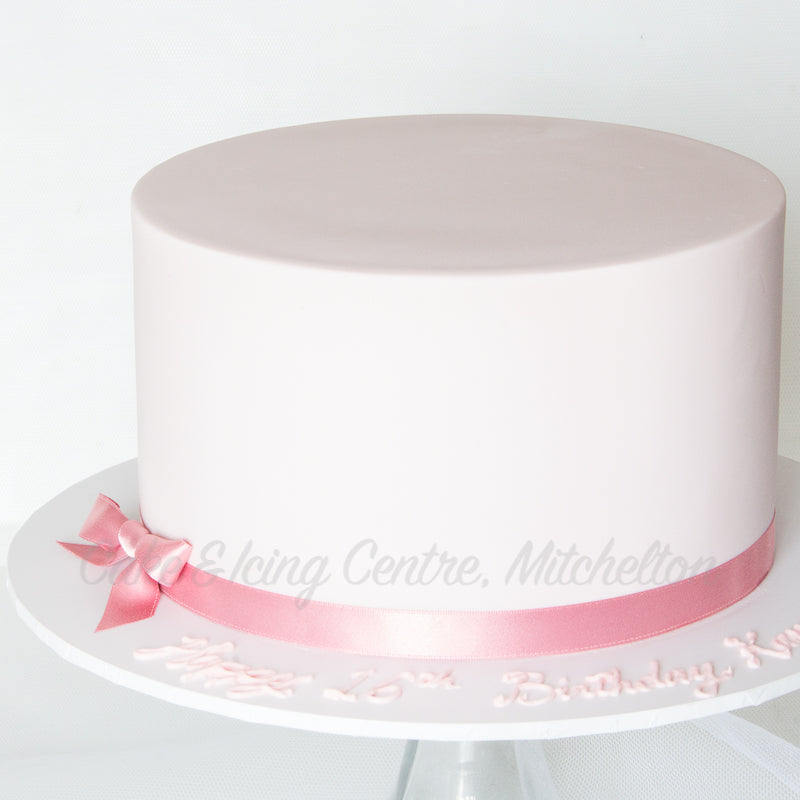 Fondant Covering a Cake - 2021 Demo Series