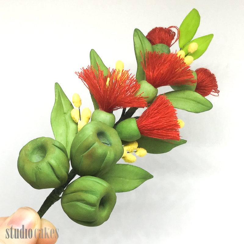 Sugar Flowers - Gumnut & Wattle Spray