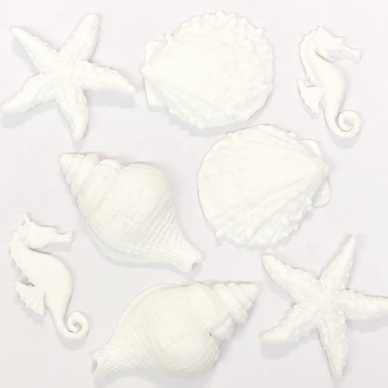 Sugar Toppers - Ornate Seashells Set