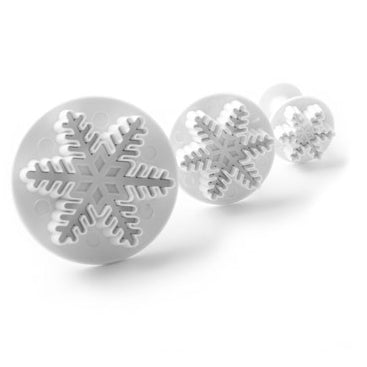 Snowflake Plunger Cutters Set