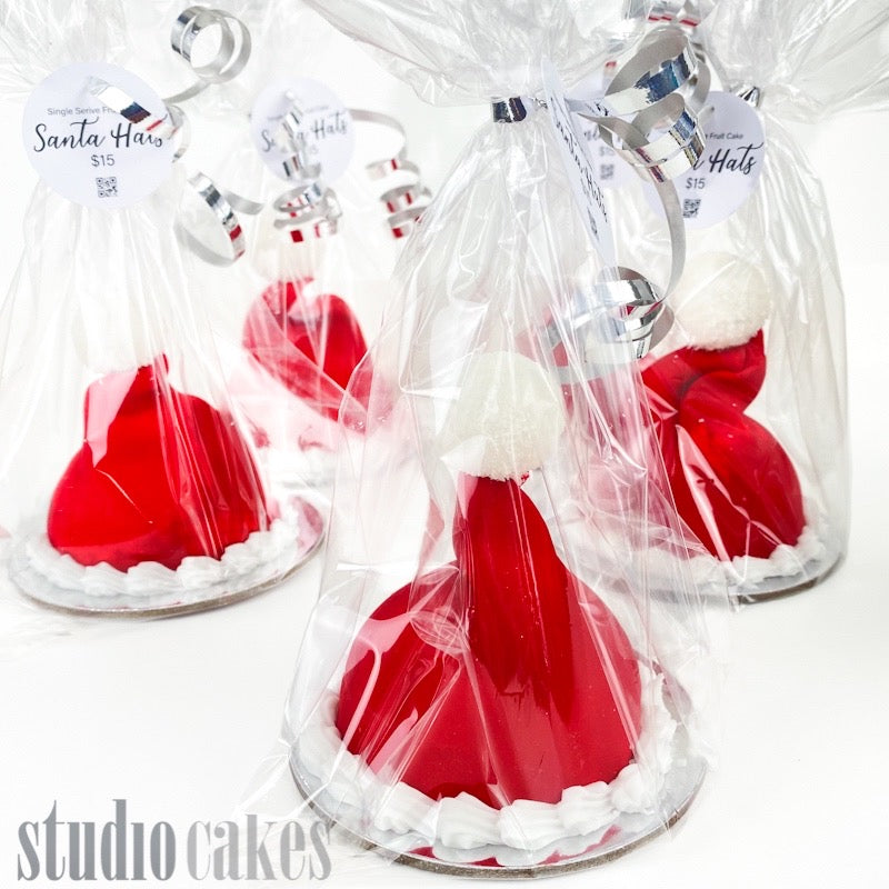Santa Hats - Single Serve Fruit Cake