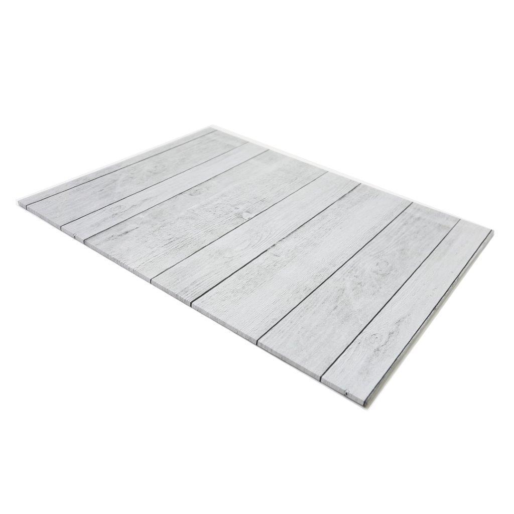 Rectangle Designer Cake Boards - White wood planks