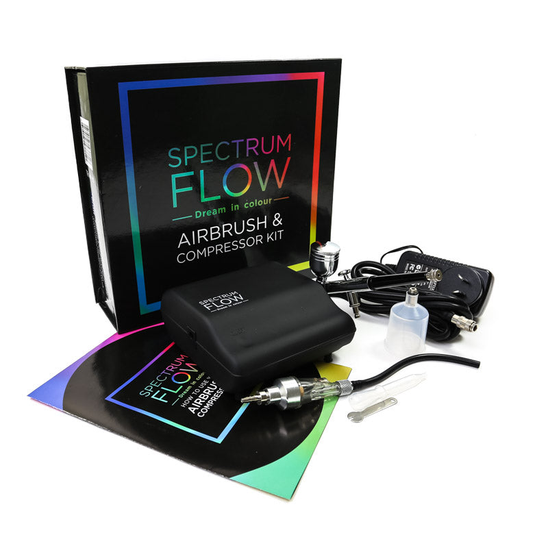 Airbrush and Compressor Set by SPECTRUM FLOW