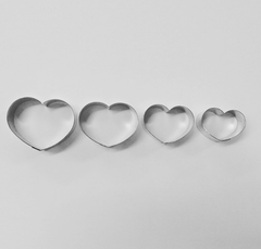 Handmade Cookie Cutter Set - Cushion Hearts 4pc