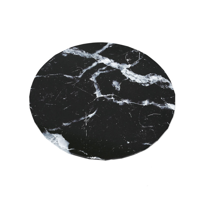 Designer Cake Boards - Marble Black