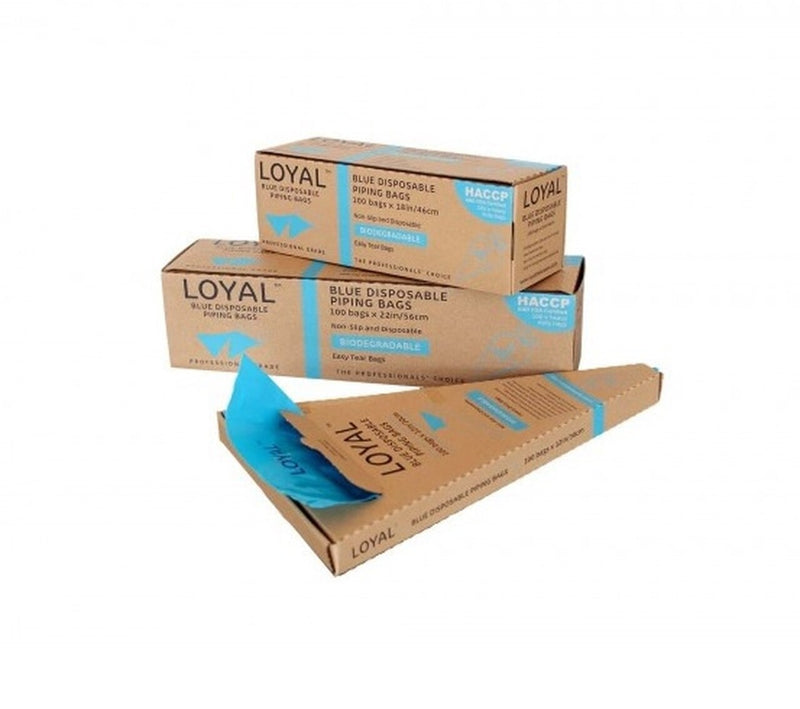 Biodegradable Disposable Piping Bags - 18inches/46cm (Box of 100) blue