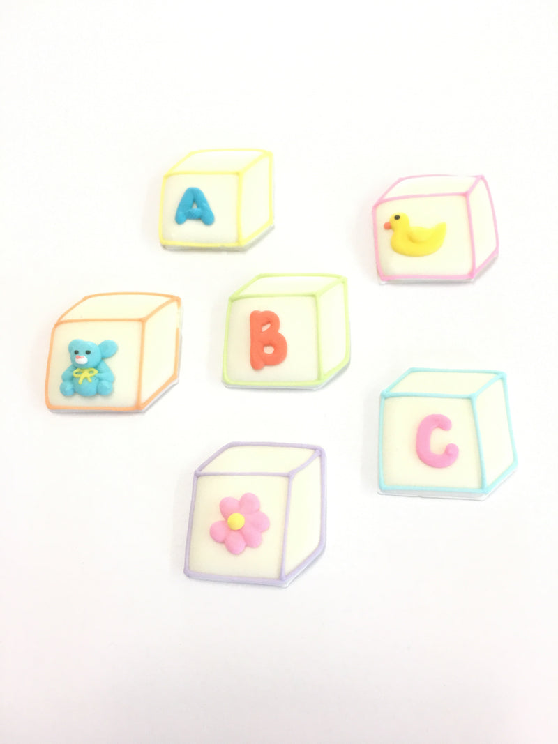 Sugar Toppers - ABC blocks