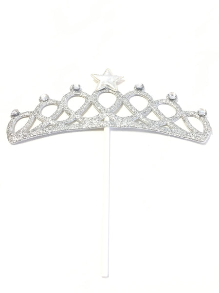 Cake Toppers - Tiara Silver