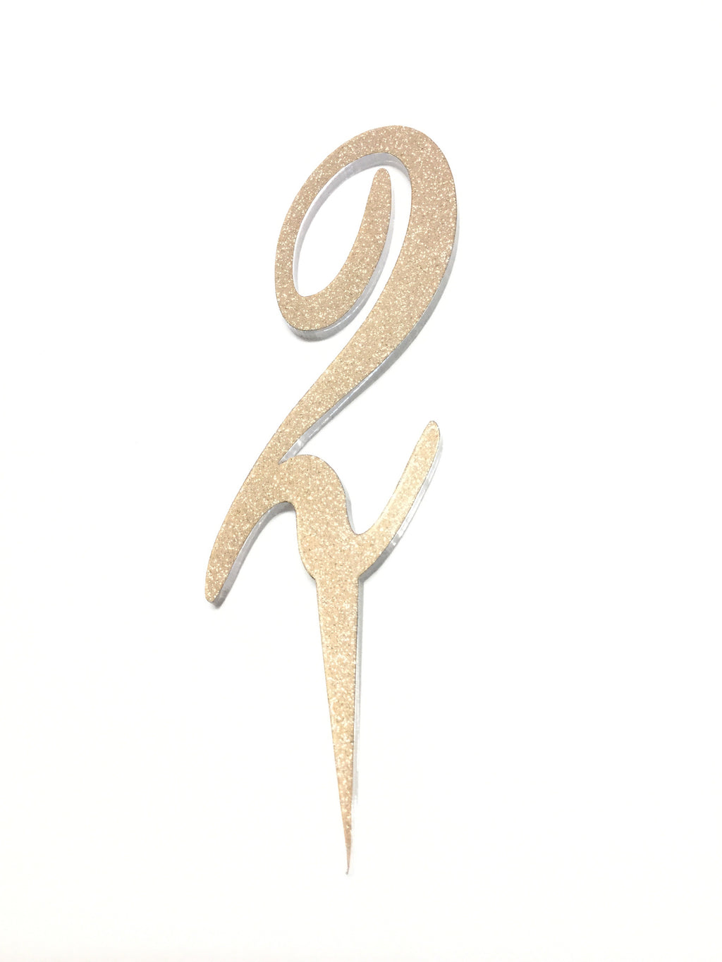 Acrylic Numbers Cake Topper - Rose Gold Sparkle