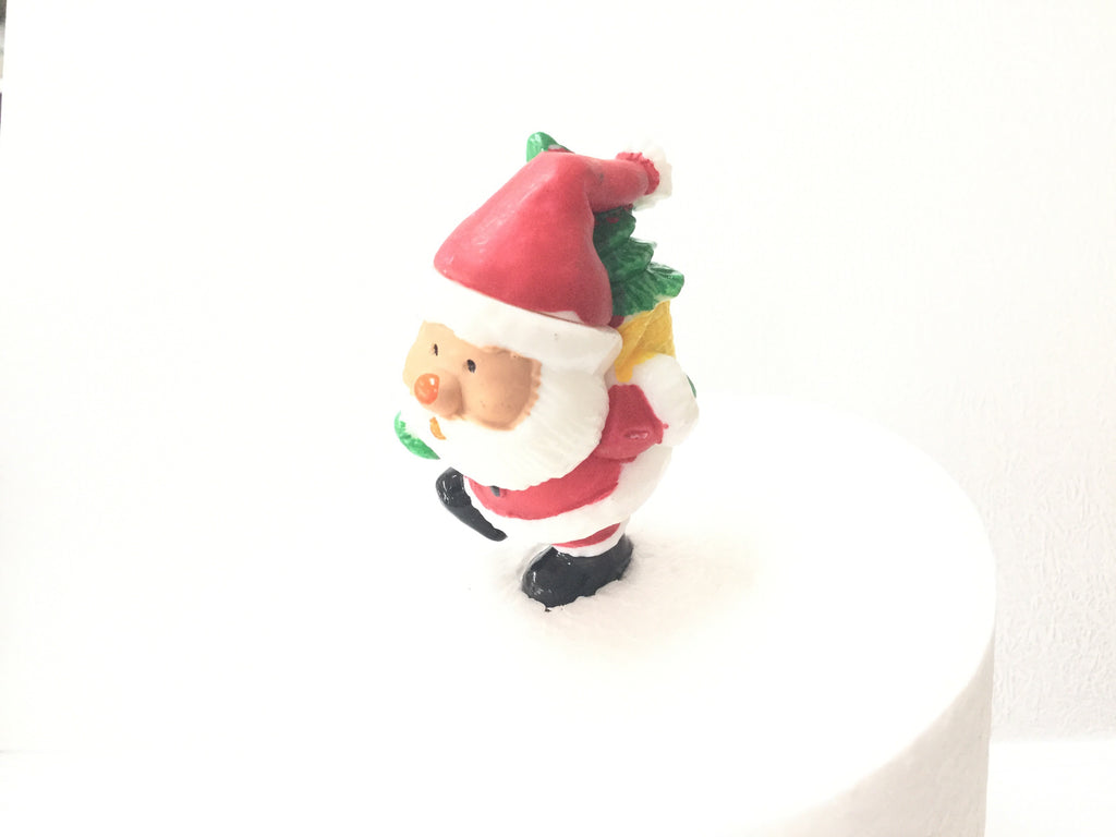 Christmas Cake topper - Santa with Tree