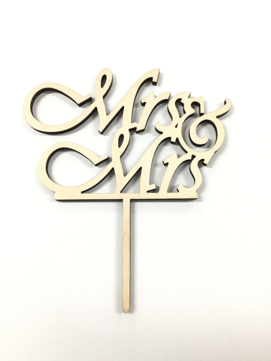Cake Topper - Mr & Mrs Birchwood (italic font)